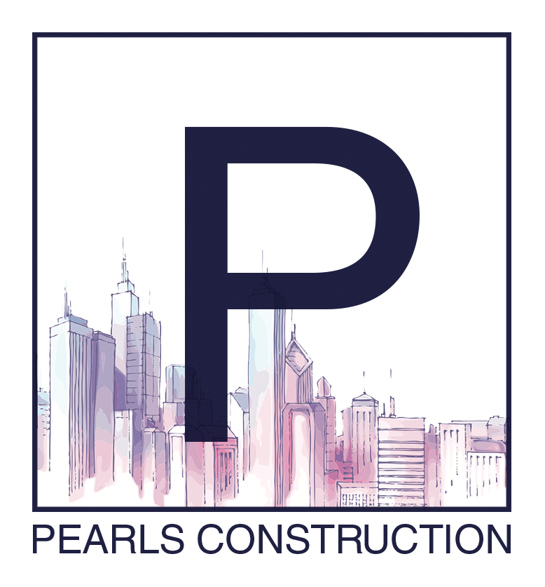 Pearls Construction Company Logo